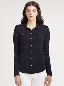 Burberry London - Jersey Military Blouse