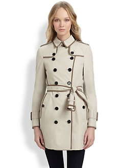 Burberry London - Tape-Trimmed Trench
