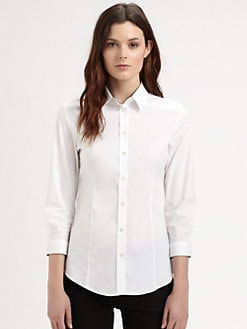 Burberry London - Check-Lined Stretch Cotton Shirt