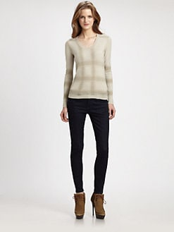 Burberry London - Check Cashmere Sweater