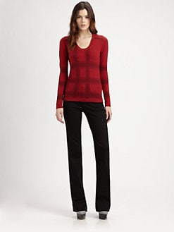 Burberry London - Printed Check Cashmere Sweater