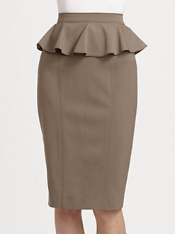 Burberry London - Wool Peplum Skirt