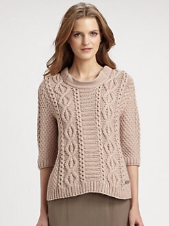 Burberry London - Hand-Knit Cabled Wool Sweater
