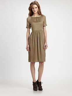 Burberry London - Crinkle Lam&eacute; Dress