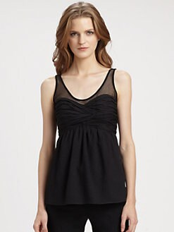Burberry London - Silk Chiffon Crinkle Tank