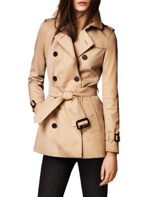 Kensington Short Heritage Trench Coat plus size,  plus size fashion plus size appare