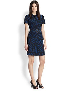 Burberry London - Abstract-Print Silk Shirtdress