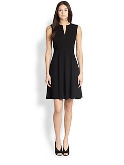 Burberry London - Flared Notched-Neck Dress