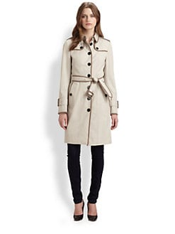 Burberry London - Leather-Trimmed Danbury Trench