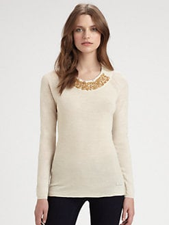 Burberry London - Jeweled Sweater