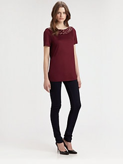 Burberry London - Jeweled Jersey Tee