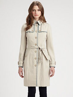 Burberry London - Contrast Stitched Trench