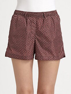 Burberry Prorsum - Printed Silk Shorts