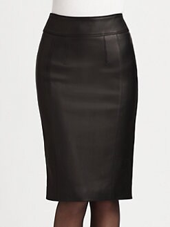 Burberry London - Stretch-Leather Pencil Skirt