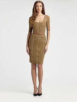 Burberry London - Ruched-Front Knit Top