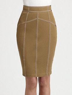 Burberry London - Mesh Pencil Skirt