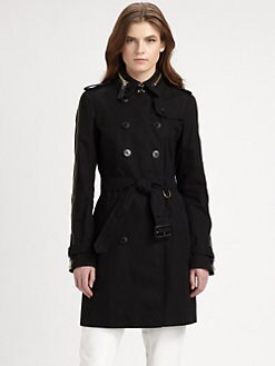 Burberry London - Zipper Detail Trench