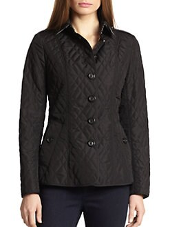 Burberry London - Leather-Detail Quilted Jacket