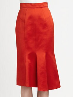 Burberry Prorsum - Flared Satin Skirt