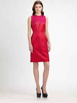 Burberry Prorsum - Silk Ombr&eacute; Dress