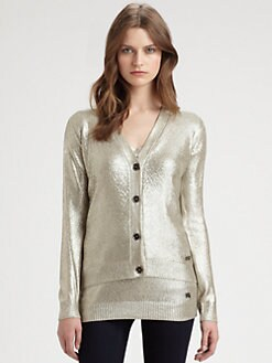 Burberry London - Metallic Silk Cardigan