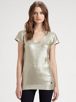 Burberry London - Metallic Silk Sweater