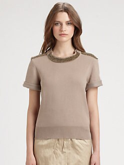 Burberry London - Beaded Silk Sweater