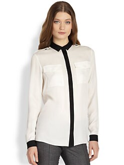 Burberry London - Bi-Color Silk Blouse
