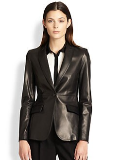 Burberry London - Leather Blazer