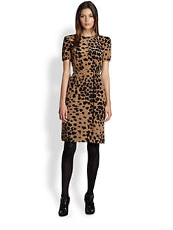 Burberry London - Silk Crepe Animal Print Dress