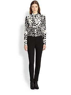 Burberry London - Silk Animal Print Blouse