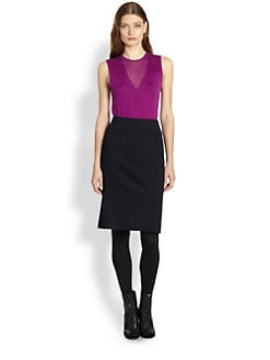 Burberry London - Sleeveless Knit Illusion Top