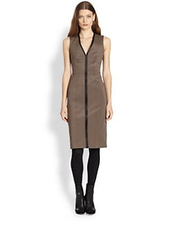 Burberry London - Leather Detail Dress