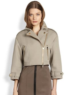 Burberry London - Technical Bonded Wool Biker Jacket