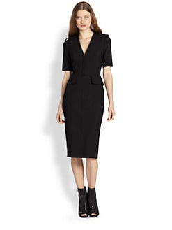 Burberry London - Epaulette Peplum Dress