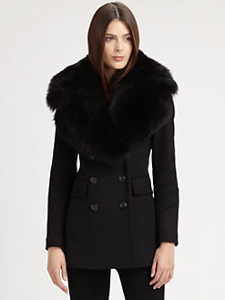 Burberry London - Fur-Trimmed Coat