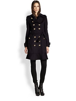 Burberry London - New Littleton Gold-Button Trench