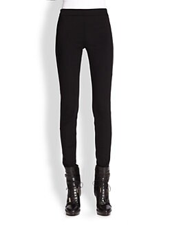 Burberry London - Ottery Leather-Trim Leggings