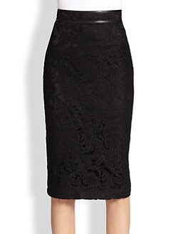 Burberry London - Lace Fishtail Pencil Skirt
