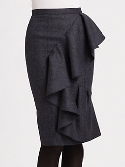 Burberry Prorsum - Tweed Wool Skirt