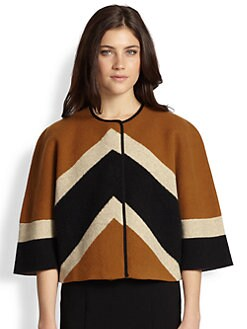 Burberry Prorsum - Stretch Wool, Cashmere & Silk Chevron Jacket