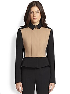 Burberry Prorsum - Colorblock Peplum Jacket