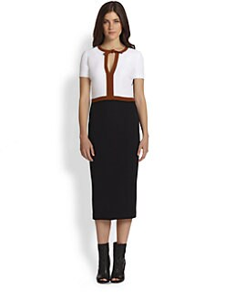 Burberry Prorsum - Colorblock Keyhole Dress