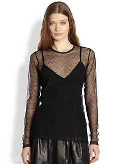 Burberry London - Sheer Mesh Top