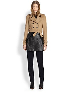 Burberry London - Coated-Bottom Wool & Cashmere Trenchcoat