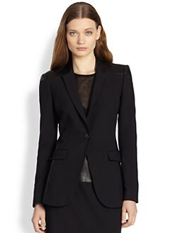 Burberry London - Leather-Paneled Blazer