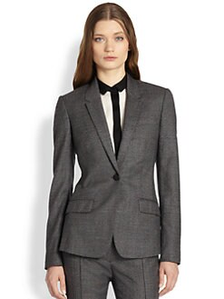 Burberry London - Check Wool Blazer