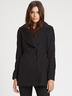 Burberry London - Wensley Wool/Cashmere Blend Peacoat