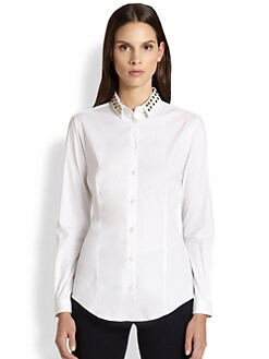 Burberry London - Studded Collar Shirt