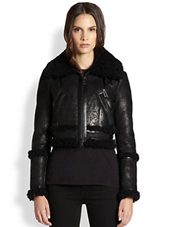 Burberry London - Shearling Bomber Jacket